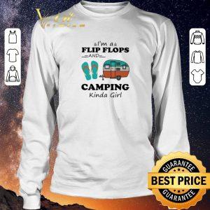 Top I'm a flip flops and camping kinda girl shirt sweater 2