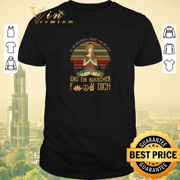 Top Ich Bin Größtenteils Frieden Liebe Und Licht Und Ein Bisschen Fuck Dich shirt sweater