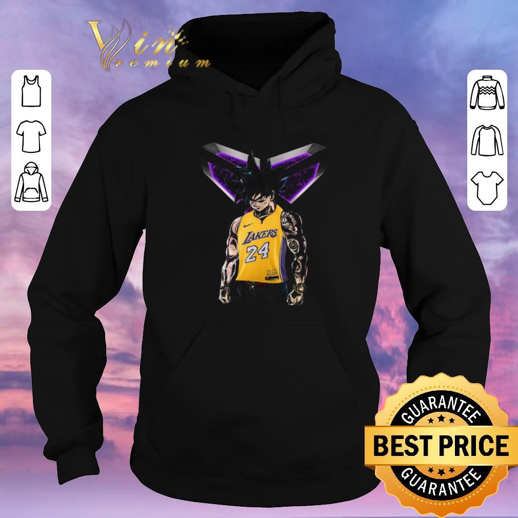 Top Son Goku mashup Kobe Bryant Logo Los Angeles Lakers 24 shirt sweater 4 - Top Son Goku mashup Kobe Bryant Logo Los Angeles Lakers 24 shirt sweater