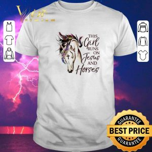 Top This girl runs on jesus and horses shirt sweater