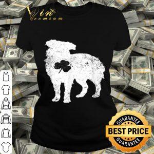 australian shepherd Irish Clover St Patrick Day Dog Gift T-shirt