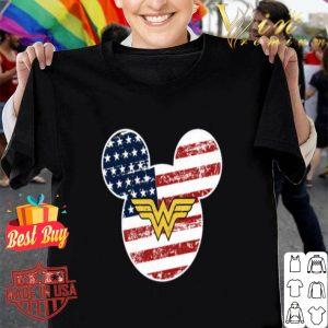 Disney Mickey Mouse Wonder Woman American flag shirt