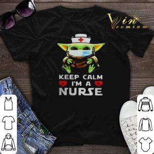 Baby Yoda mask keep calm Im a Nurse shirt sweater
