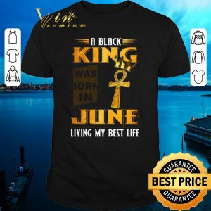 Nice A Black King Was Born In June Living My Best Life shirt sweater