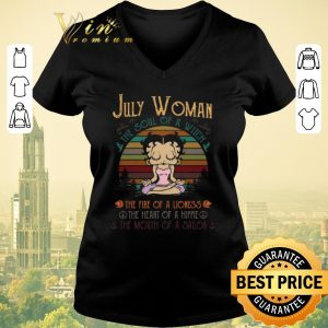Original Betty Boop Yoga July Woman The Soul Of A With The Fire Of A Lioness Vintage shirt sweater
