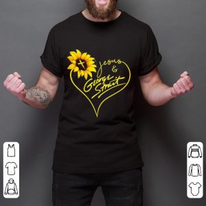 Sunflower Jesus And George Strait Shirt