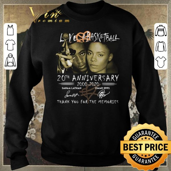 Top Love Basketball 20th anniversary 2000-2020 thank you for the memories signatures shirt sweater