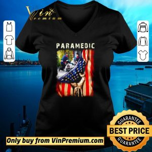 Top Paramedic American Flag Independence day shirt sweater