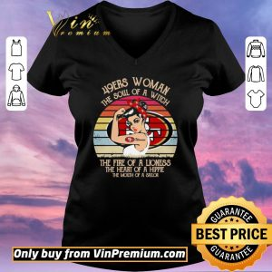 Top San Francisco 49ers woman the soul of a witch the fire of a lioness vintage shirt sweater