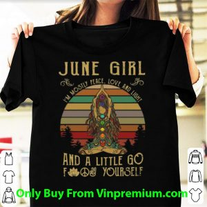 Vintage Yoga June Girl I'm Mostly Peace Love And Light Shirt