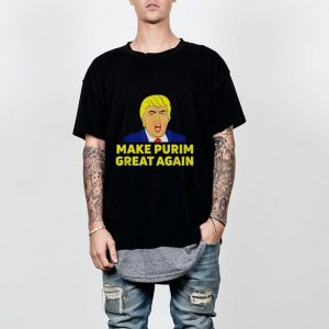 Make Purim Great Again Trump Hebrew Jewish israel Maga shirt