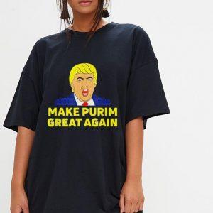 Make Purim Great Again Trump Hebrew Jewish israel Maga shirt 2