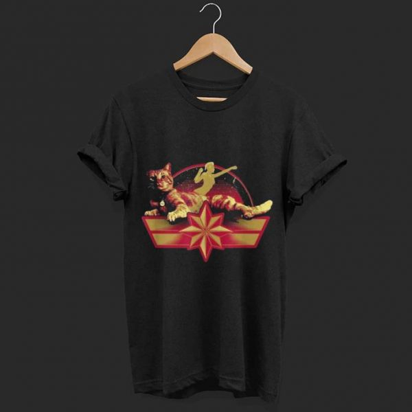 Marvel Captain Marvel Star Symbol and Goose the Cat shirt