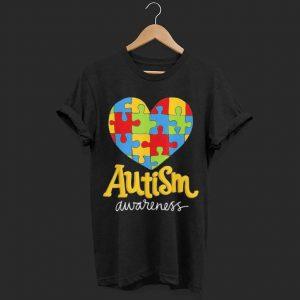Puzzle Heart Autism Awareness shirt
