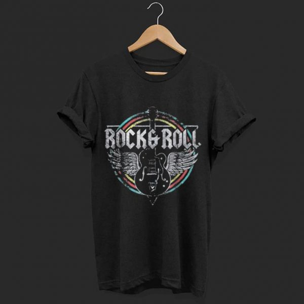 Rock and Roll Guitar Wings Music shirt