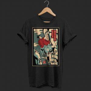 Samurai climbing mountain shirt