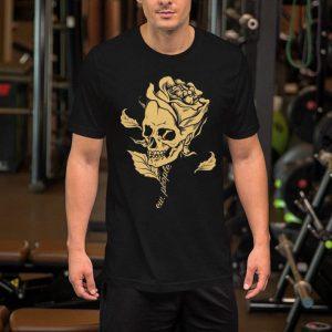 Skull roses flower ew people shirt