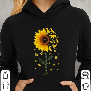 Sunflower You are my sunshine paws dogs shirt 2