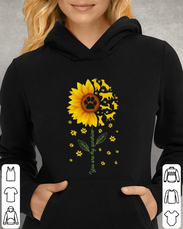 Sunflower You are my sunshine paws dogs shirt