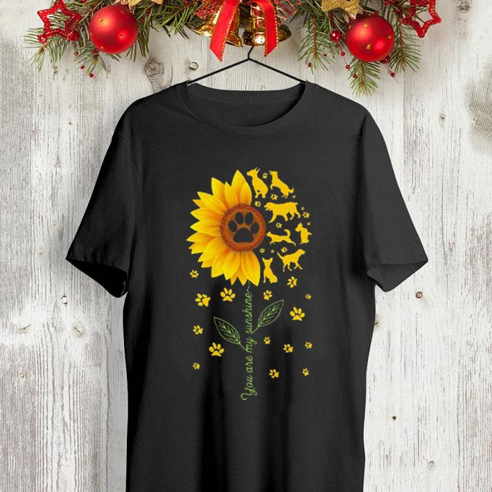 Sunflower You are my sunshine paws dogs shirt 4 - Sunflower You are my sunshine paws dogs shirt