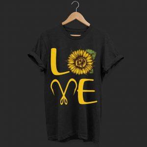 Sunflower fishing hooks Love shirt