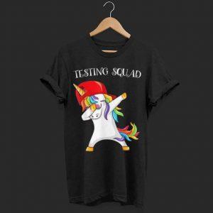 Testing squad unicorn dabbing shirt