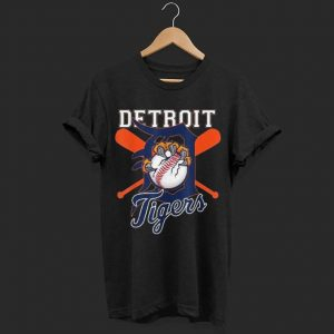 Tiger Mascot Distressed Detroit Base shirt