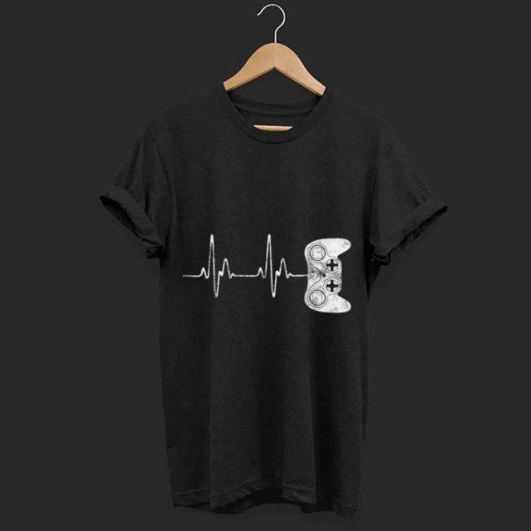 Gamer Heartbeat Handle game shirt