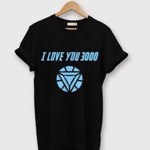 Marvel End game I love you 3000 Arc reactor shirt