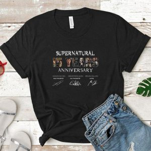 Supernatural 15 Years Anniversary all signatures shirt