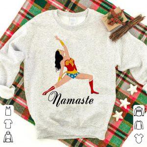 Wonder Woman doing yoga namaste shirt