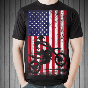 Dirt Bike American Flag shirt