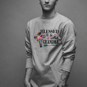 Blessed to be called Grandma Cross Flower shirt
