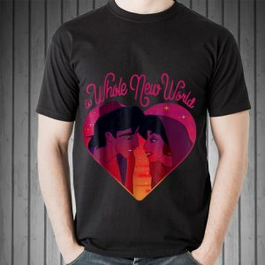 Disney Aladdin Whole New World Jasmine Heart shirt