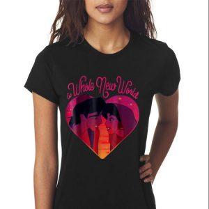 Disney Aladdin Whole New World Jasmine Heart shirt 2