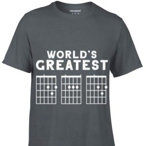 Fathers Day Worlds Greatest Dad Guitar Chords shirt