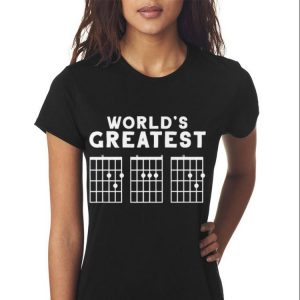 Fathers Day Worlds Greatest Dad Guitar Chords shirt 2