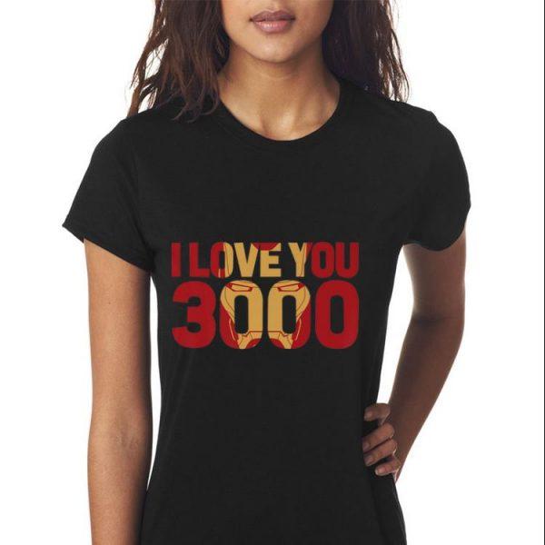 Marvel Avengers Endgame Iron Man I Love You 3000 Text Fill shirt