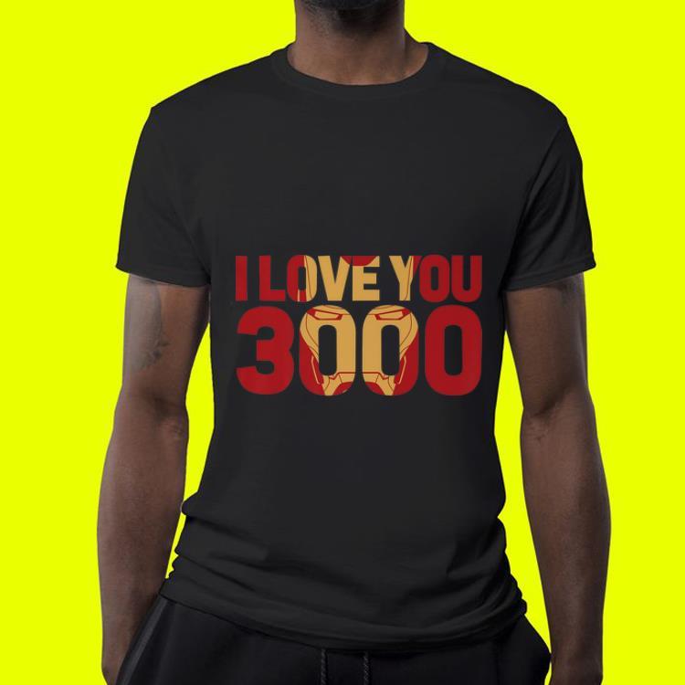 Marvel Avengers Endgame Iron Man I Love You 3000 Text Fill shirt 4 - Marvel Avengers Endgame Iron Man I Love You 3000 Text Fill shirt