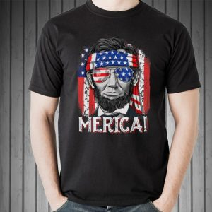 Merican Flag president Abraham Lincoln shirt
