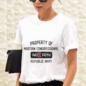 Property of martian congressional morn republic navy shirt 2