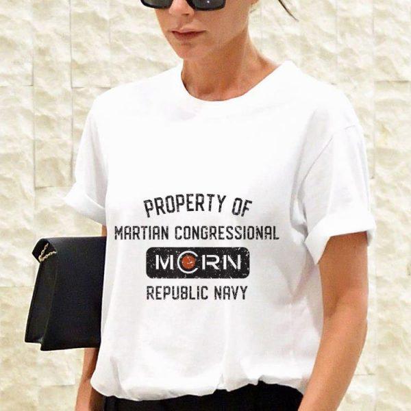Property of martian congressional morn republic navy shirt