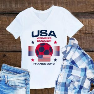 USA women Soccer Team 2019 France World Championship Cup shirt