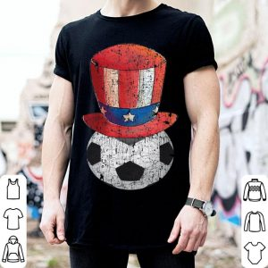4th July Soccer Ball & Hat Dabbing American Flag shirt