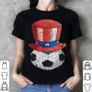 4th July Soccer Ball & Hat Dabbing American Flag shirt