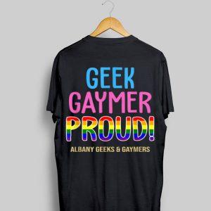 Albany Gaymer Pride Albany Geek And Gaymer shirt