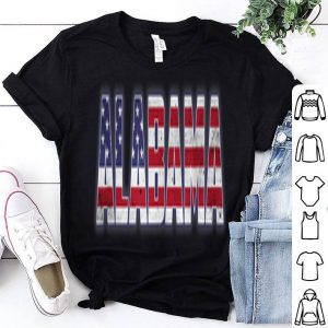 American Flag Alabama State Pride 4th of July shirt