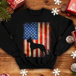 American Flag Great Dane Dog Lover 4th Of July shirt