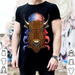 Buffalo Bison USA Flag Fourth of July shirt