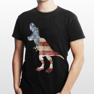 Dinosaur American Flag 4th Of July Independence Day shirt